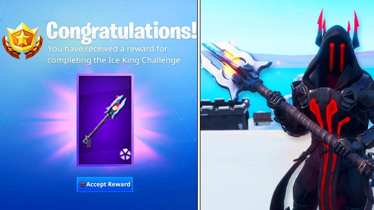 New Ice King Tier 100 Pickaxe In Fortnite Free Ice Scepter