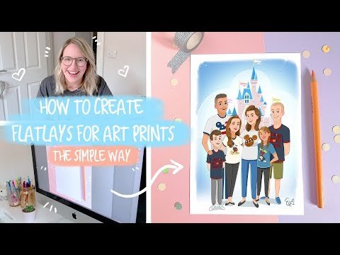 HOW TO | Creating Flatlays For Your Art Prints - The Simple Way!