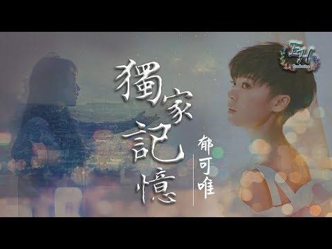 郁可唯 - 獨家記憶(COVER陳小春)高清無雜音【動態歌詞Lyrics】