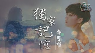 郁可唯 - 獨家記憶(COVER陳小春)高清無雜音【動態歌詞Lyrics】 thumbnail
