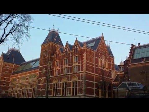 sunset amsterdam with beautiful architecture netherland