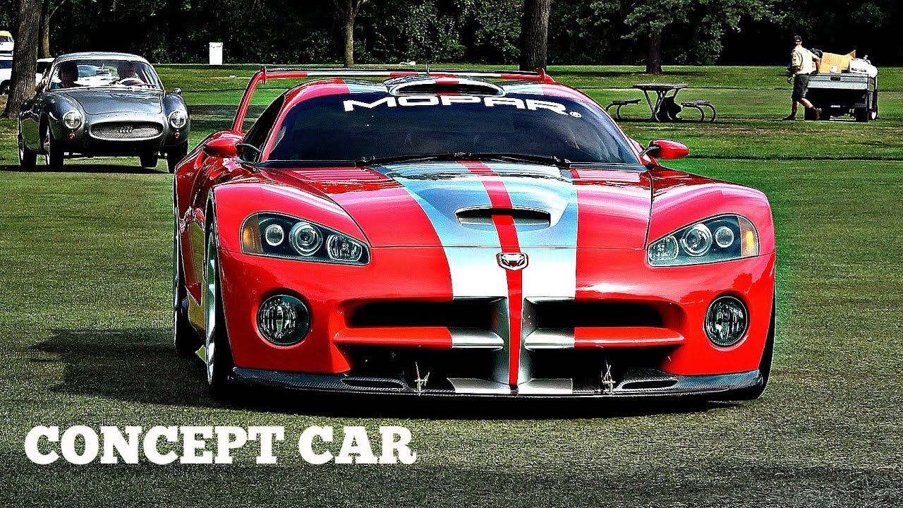 The Dodge Viper Gtsr Concept Car Is Seen In Motion And It