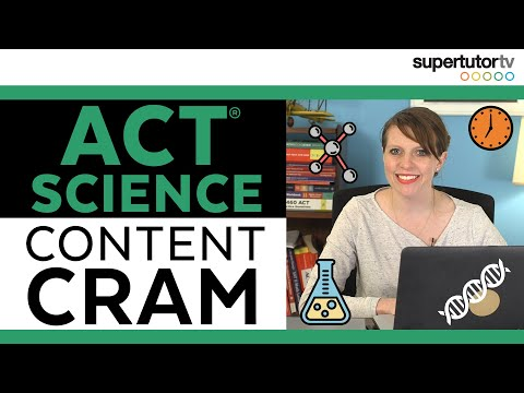 ACT® Science Content: What To CRAM For ACT® Science Section / SCIENCE CHEAT SHEET & Topic Overview