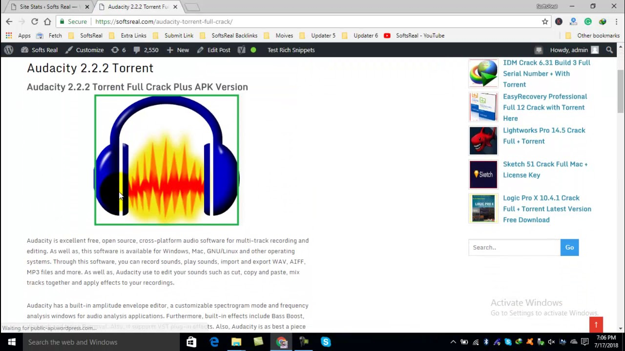 free download audacity for windows 10 full version with crack