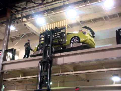 Toyota Celica On a forklift