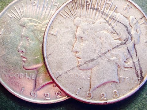 1922 & 1923 Peace Dollar Coins