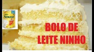 BOLO DE LEITE NINHO PERFEITO