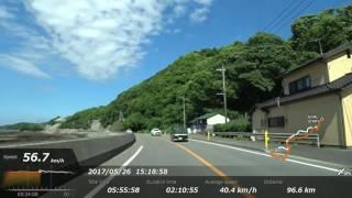 16倍速熊本空港から天草上島20170526