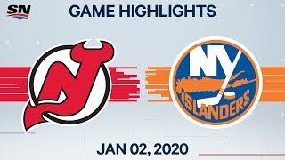 NHL Highlights   Devils vs. Islanders - Jan. 2, 2020