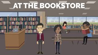 AT THE BOOKSTORE  | Fluent English | English Conversation | Common Daily Expressions