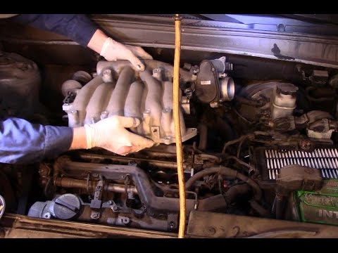 How to remove the upper intake manifold on a 2007 Hyundai Santa Fe  YouTube