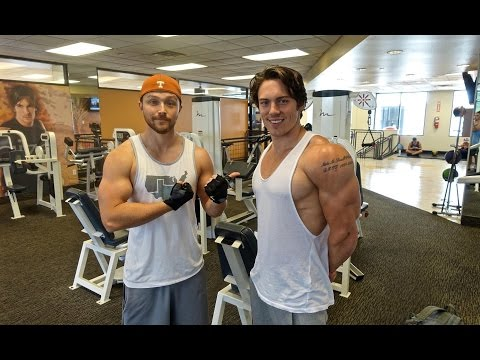 Full Intermittent Fasting Workout with Sterling Knight  Hitting 120's on Incline DB Press