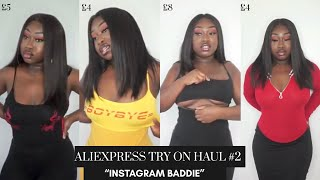 ALIEXPRESS TRY ON HAUL #2 - 'INSTAGRAM BADDIE'