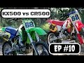KX500 vs CR500 Which bike is better? And lets talk Vintage MX Racing