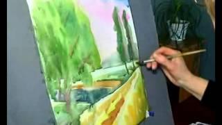 Урок рисования для детей акварельный пейзаж Конотопська ДХШ