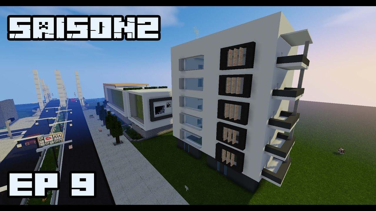 ville minecraft s2 immeuble moderne 9 youtube. Black Bedroom Furniture Sets. Home Design Ideas