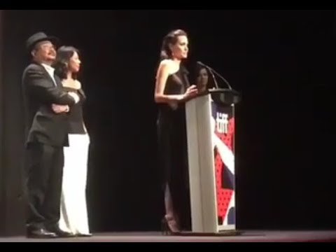 Angelina Jolie receives a standing ovation at the Toronto Film Festival