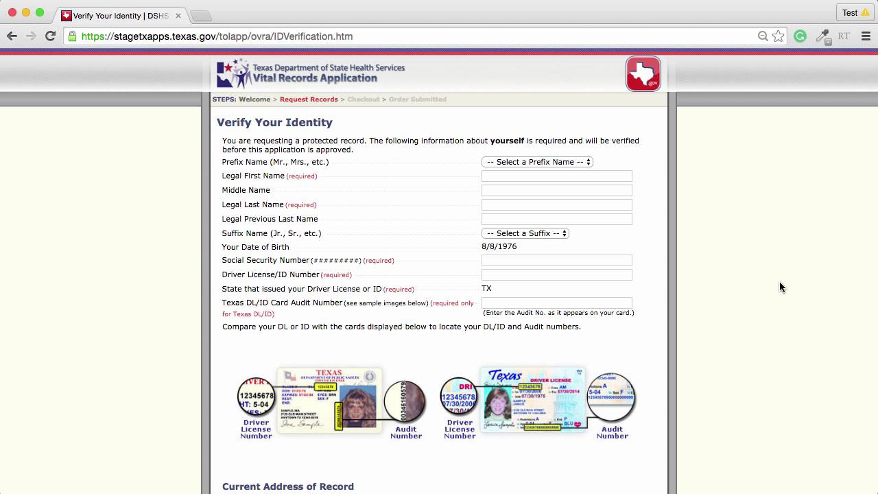 Texas birth certificate request demo video youtube texas birth certificate request demo video xflitez Image collections