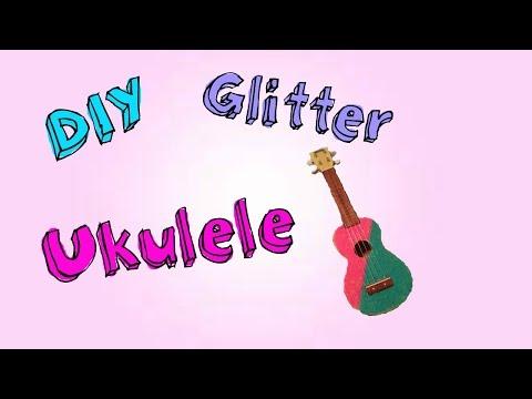 DIY Glitter Ukulele