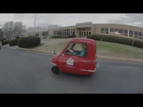 Driving the world's smallest car, the Peel P50