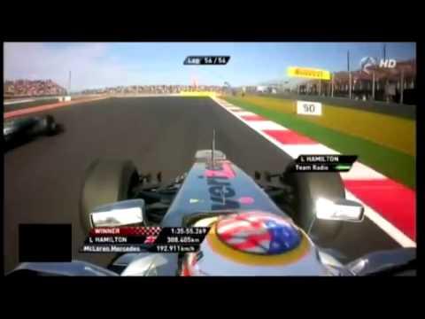 Lewis Hamilton Victory   Team Radio - United States 2012
