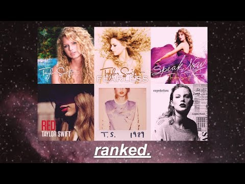all taylor swift albums ranked