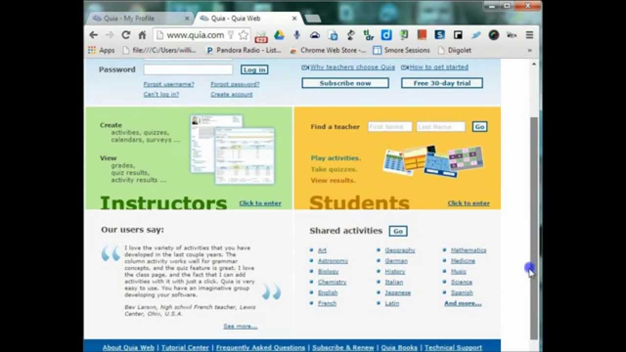 Quia: Getting Started - YouTube