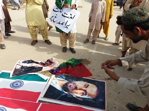 Protest Against Brahamdagh bugti In Balochistan Slap On Indian R&AW Face 2016