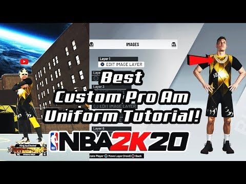 NBA 2K20 HOW TO UNLOCK CUSTOM PRO AM JERSEYS UNIFORMS & LOGOS BEST 2K20 PRO AM UNIFORMS 3V3