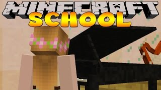Minecraft School : LITTLE KELLY LEARNS THE PIANO!!