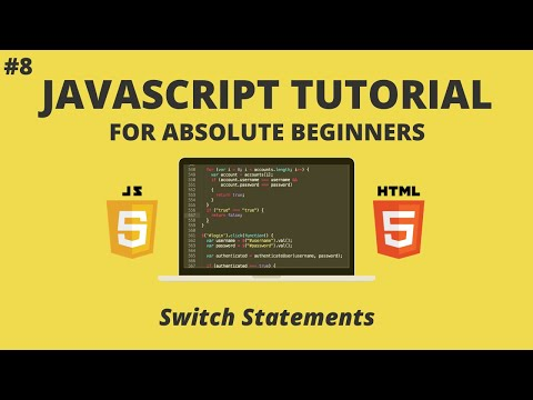 JavaScript For Beginners #8 - Switch Statements
