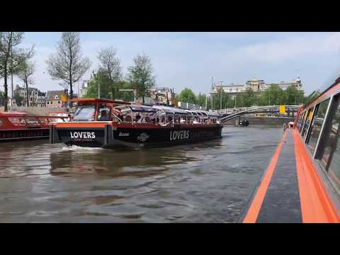 Amsterdam Canal Boat Tour May 2018  (Lovers Canal Cruises)