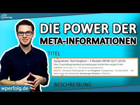 (WordPress) Meta-Informationen Ändern: Titel & Beschreibung | Mehr Besucher Bekommen | SEO Tutorial