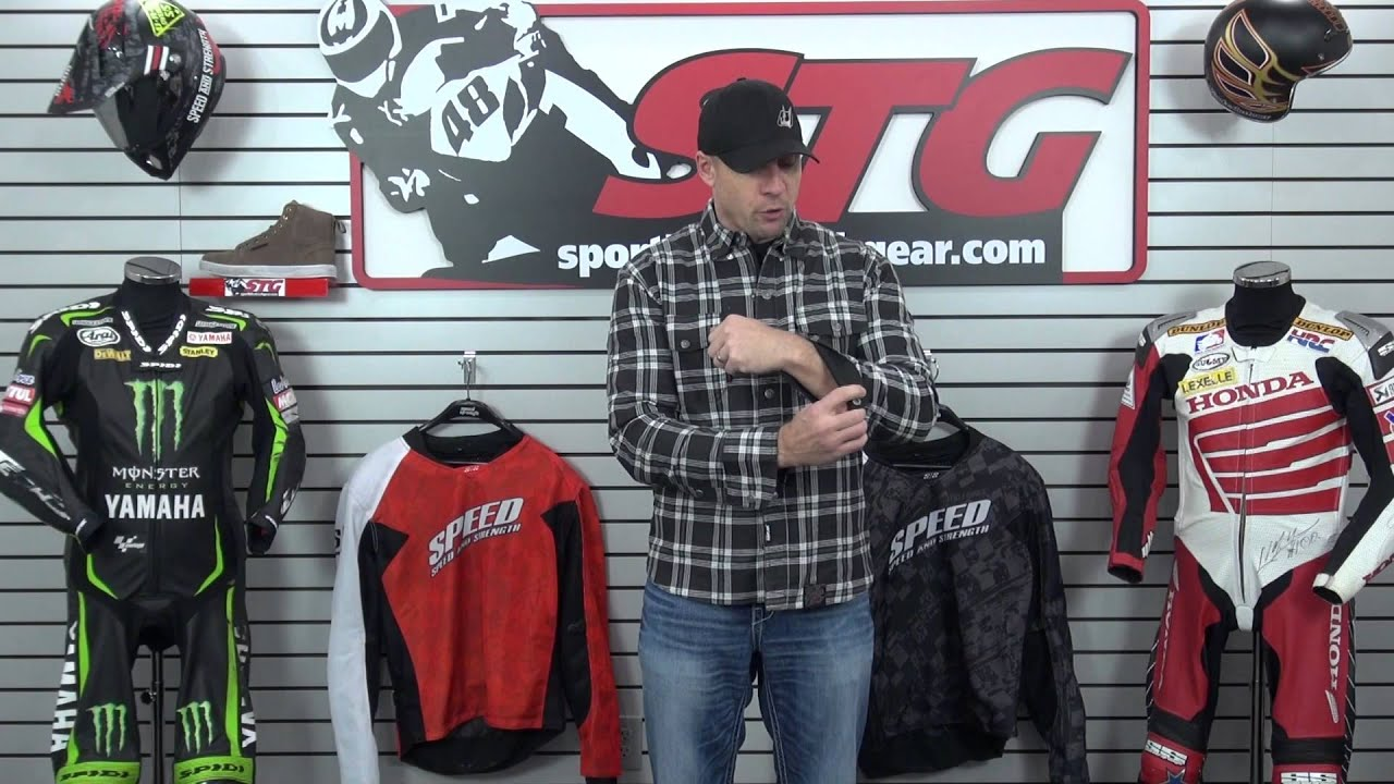 Flannel Motorcycle Jacket >> Speed and Strength Black 9 Flannel Review from SportbikeTrackGear.com - YouTube