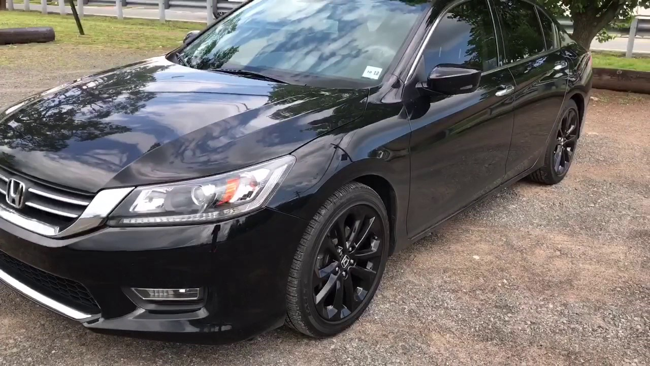 2013 accord blacked out youtube for All black honda accord
