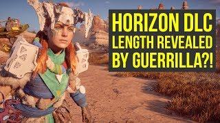 Horizon Zero Dawn DLC LENGTH REVEALED BY GUERRILLA GAMES Horizon Zero Dawn Frozen Wilds