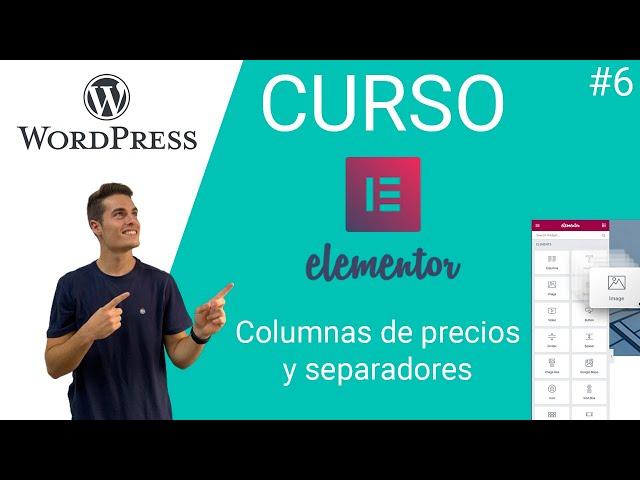 🎓 Curso Elementor Free | Nivel Intermedio [ WORDPRESS ] | Columnas de precios y separadores #6