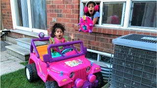 Sally Drive Thru Pretend Play Toy store with Power Wheels Ride on Car