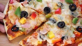 Cheesy Vegetable Pizza recipe - Foodvedam