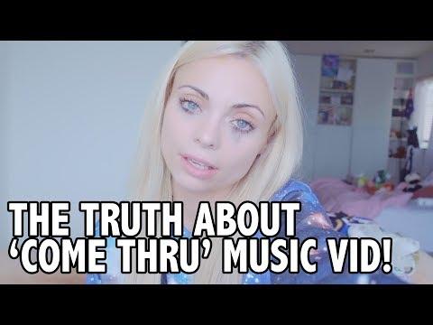 TRUE STORY BEHIND 'COME THRU' MUSIC VID w JAKE & ERIKA! | Katja Glieson