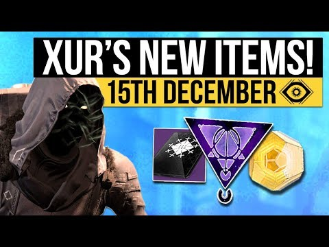Destiny 2 | NEW XUR LOCATION & EXOTICS! - New Fated Engram, Three of Coins & Inventory (15 December)