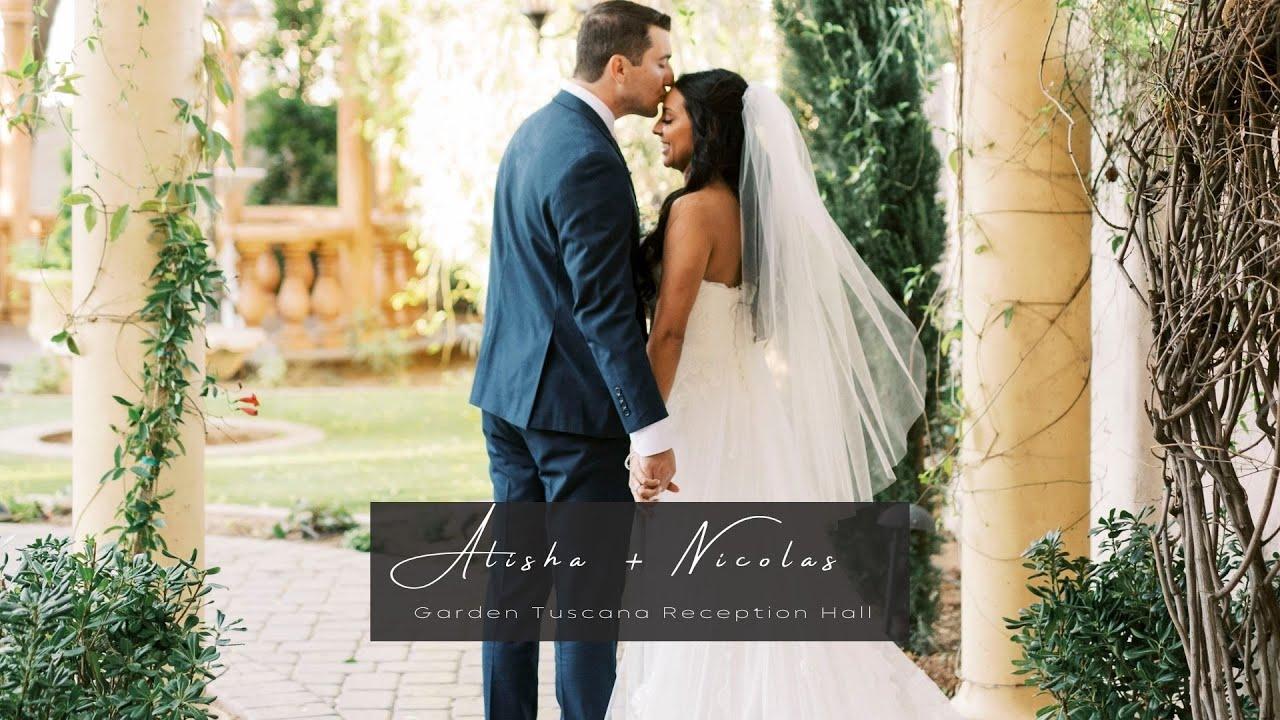 Alisha + Nicholas Wedding Film | Garden Tuscana Reception Hall