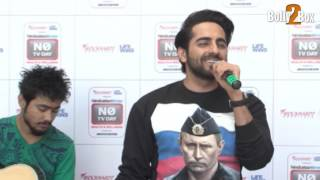 ayushmann khurrana singing yahin hoon main live performance