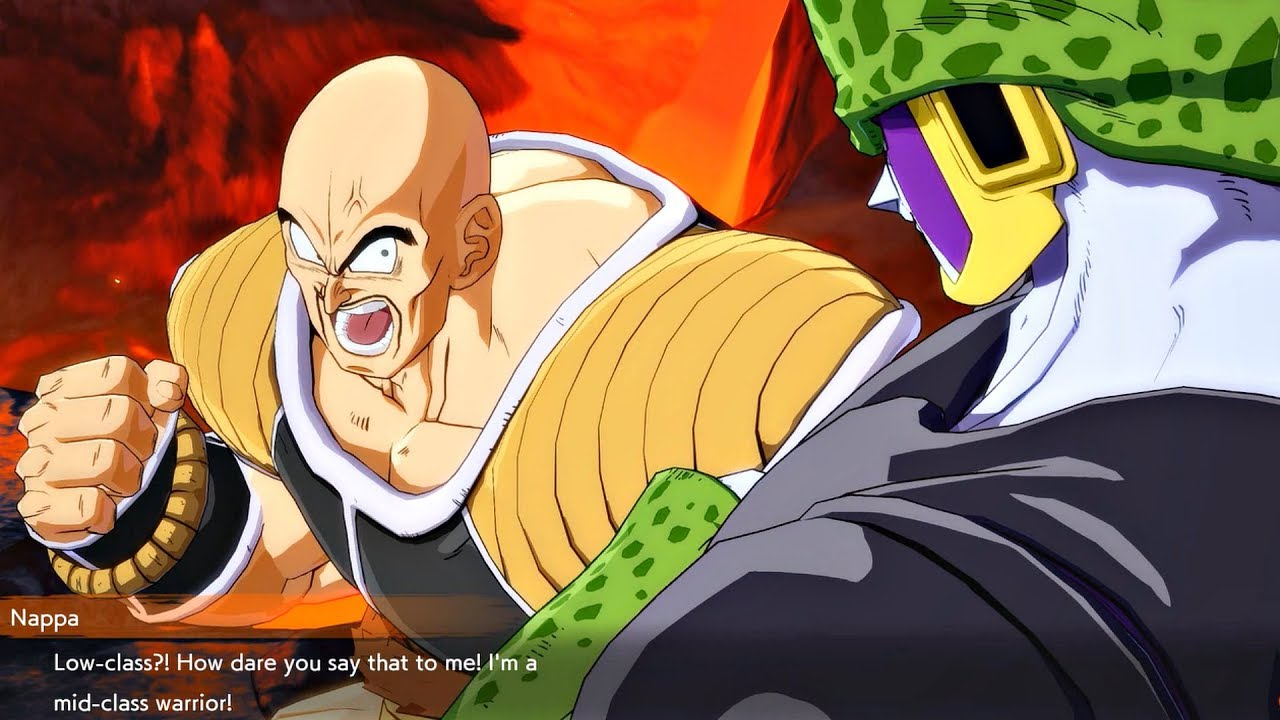 dragon ball fighterz cell roasting nappa youtube
