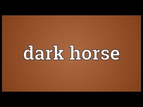 Dark horse Meaning