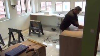 Как установить кухню. Видео установки кухни в реальном времени(, 2016-01-02T14:37:33.000Z)