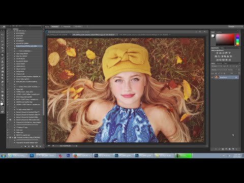 Florabella Trinity Photoshop Actions Video #6 - Earthy Organic Brown Toned Edit