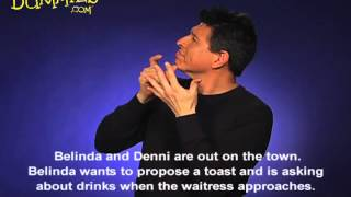 Ordering a Drink in American Sign Language (ASL) - For Dummies