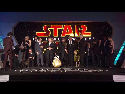 Star Wars The Force Awakens European Premiere Presentation & Nelson's Column Illumination