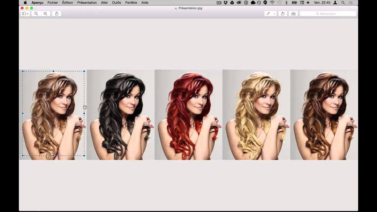 Changer couleur de cheveux sur une photo